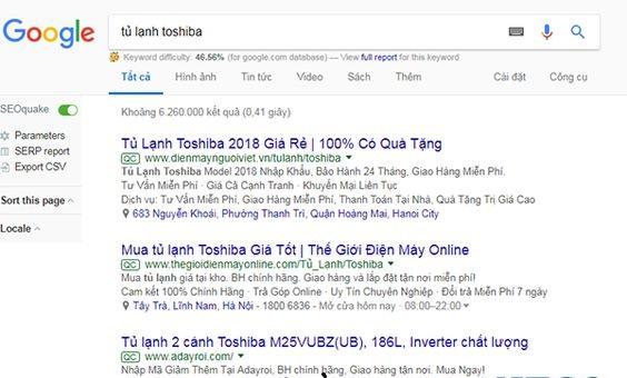 Quảng cáo Google ADs trên công cụ tìm Kiếm - (Có ký hiểu QC ở đầu)