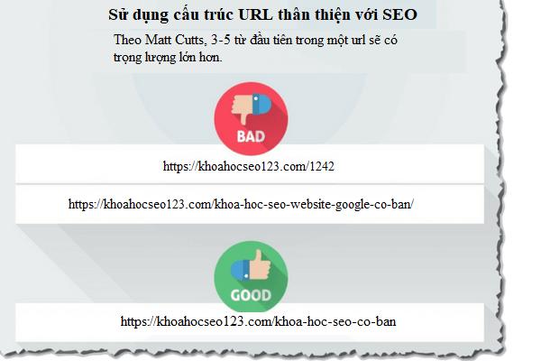 Sử dụng cấu trúc URL thân thiện với SEO